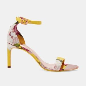 Flower Print Heeled Sandal